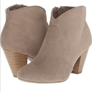 | Report | Gray Faux Suede Booties